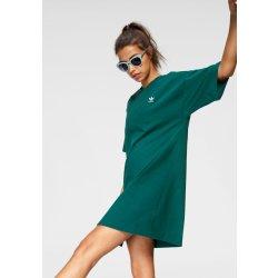 cf0c9555b0eb Dámské šaty Adidas Originals žerzejové šaty zelená