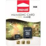 Maxell microSDHC 8GB CL10 + adaptér 854716