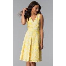 d51a8d314f9e Krátké šaty pro družičku nebo svědkyni žlutá