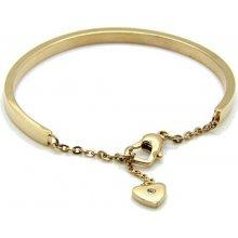 Troli pozlacený náramek se srdcem KBS-151-GOLD