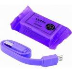 SES 90010018 USB nabíjecí Micro USB, fialový