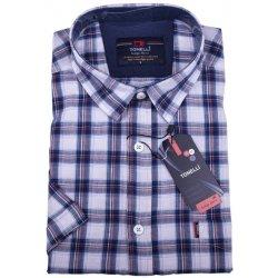 8e55717fc08 Tonelli Modrá pánská košile 100 % bavlna 110812