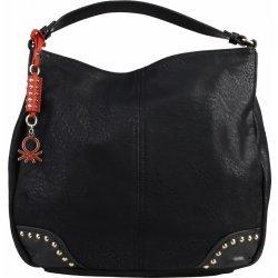 stylová koženková kabelka s jedním uchem Benetton Magritte černá ... b12ce1fc300