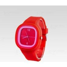 Silikon Watch Square červené