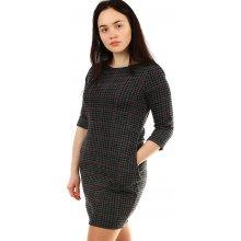 2149eb4ed363 YooY úpletové dámské šaty s 3 4 rukávem 431861 tmavě šedá
