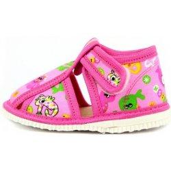 5392a1d2b6b Dětská bota Rak Dětské bačkůrky suchý zip růžová