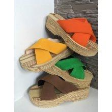 letní nazouváky pantofle Barbara zelená 4fa07404d0