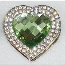 Háček na kabelku Luxury Smaragd heart
