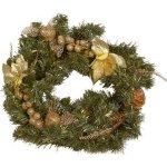 Christmas gifts VĚNEC SE ZLATOU DEKORACÍ 40CM, PVC