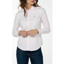 Gant dámská Košile GANT STRETCH OXFORD BANKER růžová