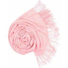 Carlo Romani Dámská světle růžová pašmína P82 0fbf675781