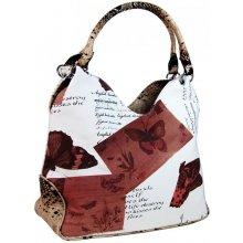 kabelka přes rameno Cecile v hnědo-bílé