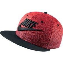 Nike True Print Snapback červená / černá