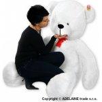 Plyšový Medvěd Baby Nellys Bílý 180cm