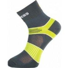 Progress ponožky Cycling šedá/zelená