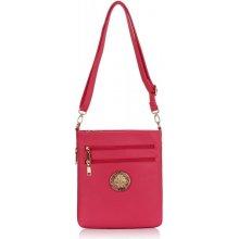 7e5e7fb57d8 L S Fashion 00369 crossbody růžová kabelka