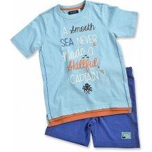 Blue Seven dětská souprava tyrkysové tričko a kraťasy Vintage Sea