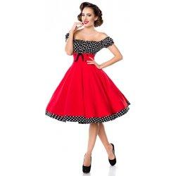 a005f7e18b92 Dámské šaty YooY dámské retro šaty s puntíky červená