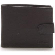 Delami Peněženky Pánská kožená černá peněženka 9371 Černá