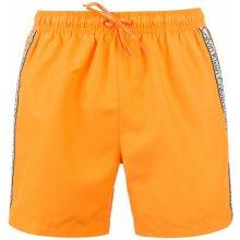 Calvin Klein taped drawstring swim shorts orange b9d8bc9192