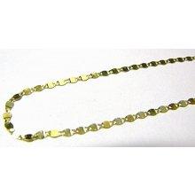 Náramek silnější dámský leštěný zlatý ploché destičky H538