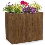 Blumfeldt Timberflor, květináč, 40 x 80 x 40 cm, hnědá barva GDW11-Timberflor4080