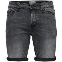 ONLY&SONS Pánské kraťasy Ply shorts Dark Grey Cr 8604 Grey Denim