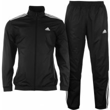 Adidas Three Strip Closed Hem Woven Tracksuit Mens Black/White