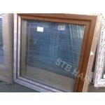 Okno 120x120 zlatý dub