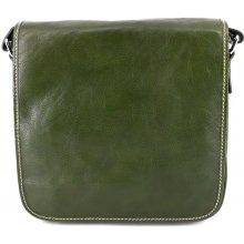 4f4592248cf Arteddy kožená taška crossbody dámská pánská 29700 zelená