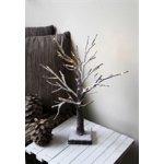 Světelný strom TOBBY 20x LED, hnědá zasněžená - Star trading