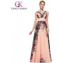 Grace Karin společenské šaty dlouhé CL7502-1 růžová b3649f9105e