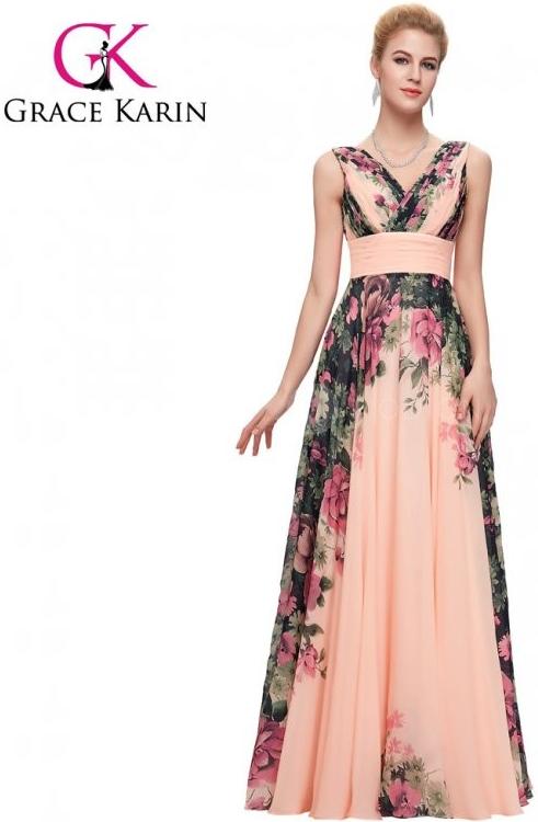 7dc280eb812 Plesové šaty Grace Karin společenské šaty dlouhé CL7502-1 růžová ...