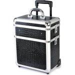 Hairway Kadeřnický kufr na kolečkách 3-dílný černý vzor 1 28588