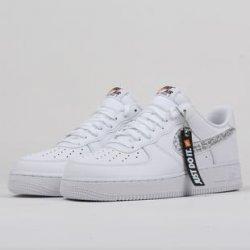 Nike Air Force 1  07 LV8 JDI LNTC white   white - black - total ... 12a1f8e2a89