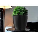 GreenSun Samozavlažovací květináč AQUAS průměr 22 cm, výška 21 cm, černý
