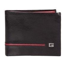 Giudi pánská černočervená kožená peněženka 6954