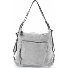 Vittoria Gotti kabelka batůžek přírodní kůže Světle šedá