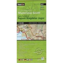 Vektor 457 Albanie Mysterious South 1 80 000 Turisticka Mapa Od