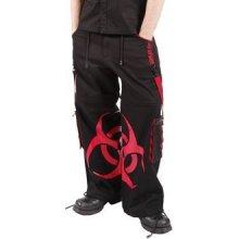 Cyber kalhoty pánské dlouhé BioHazard červené