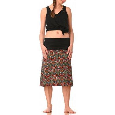 Střečová sukně krátká Azték pink