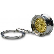 Přívěsek na klíče lité kolo zlaté