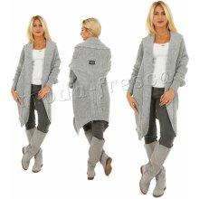 c109435a9cb Fashionweek Dlouhý teplý svetr s velmi originálním střihem Y ITALY  MF15 M865 šedý