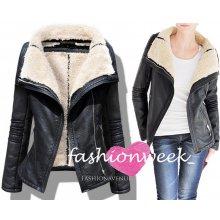 Kožená zimní bunda Lux s kožíškem 9f773281b5