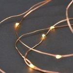 Světelný řetěz 10 m - stříbrný