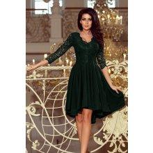 Numoco šaty Nicolle s krajkovými rukávy 210-3 zelená b0b5d0d2aa