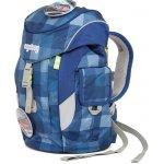 Ergobag batoh Mini Károvaný modrý