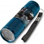 Euroswan Dětská hliníková LED baterka Batman vs. Superman modrá Alu 9x2,5 cm