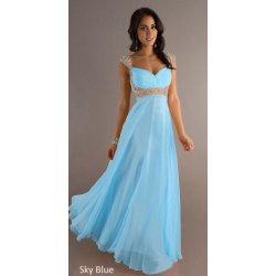 f8406f281601 Dámské dlouhé zelenomodré plesové a společenské šaty Světle modré ...