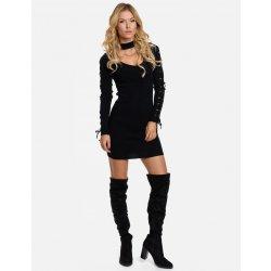4e380d84891 Calzanatta dámské svetrové šaty s chokerem 712006 černá